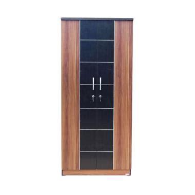 Lemari Pakaian Tanpa Pintu jual lunar lpt 024 a 2 pintu lemari pakaian coklat muda tanpa cermin khusus jabodetabek