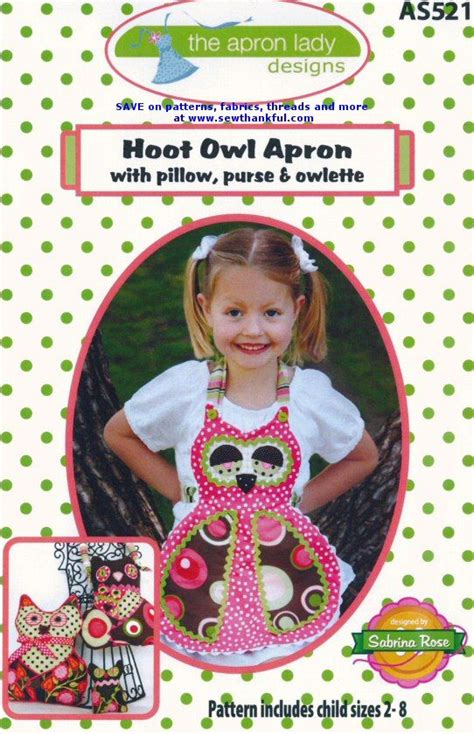 pattern for owl apron hoot owl apron pattern for children sizes 2 8 includes