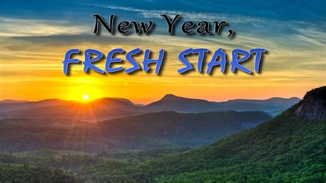 a new year a fresh new year fresh start a show about a fresh start