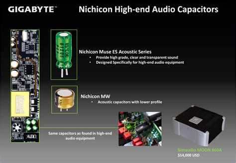 high end audio capacitors gigabyte next generation intel preview enhanced audio motherboards hardwareheaven