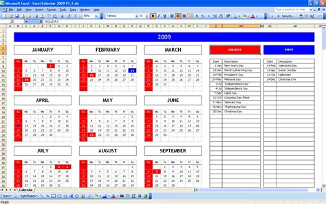 annual calendar template excel top 5 excel yearly calendar excel spreadsheet