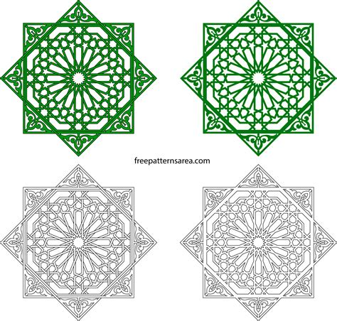 islamic pattern autocad free download geometric islamic ornament art vector patterns