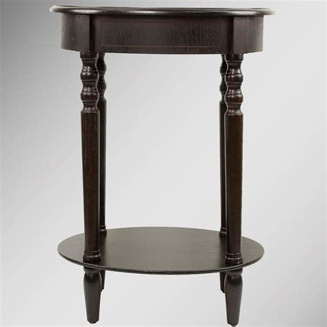 oval accent tables reigna espresso oval accent table