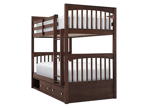 raymour and flanigan bunk beds jordan twin over twin storage bunk bed chocolate