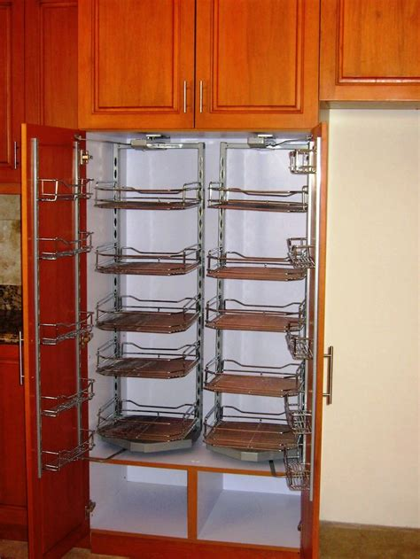 Metal Kitchen Storage Cabinets Stainless Steel Swing Out Pantry Storage Modular Cabinets Kitchen Accessories