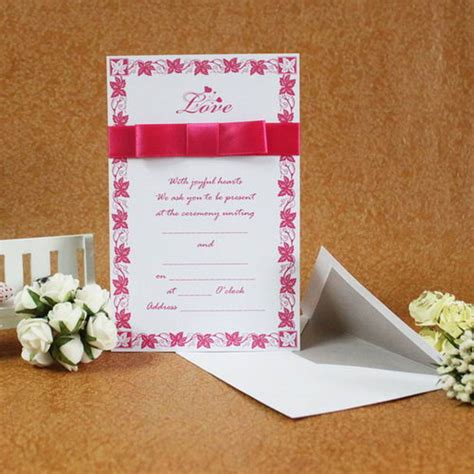 ribbon for card classic style flat card invitation cards with ribbons set