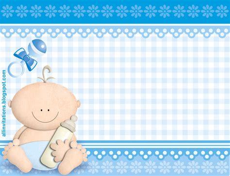 Baby Shower Ideas Para Niño by Plantilla Invitacion De Baby Shower Bebe Con Biberon Para
