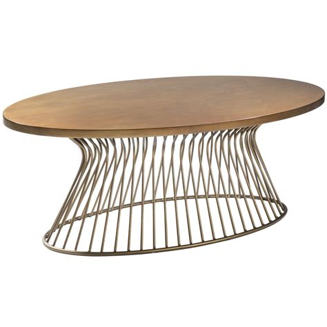 mid century oval coffee table mid century modern golden bronze oval cocktail coffee