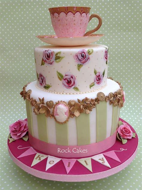vintage themed birthday cakes vintage tea party female birthday cakes pinterest