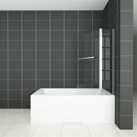 pivot bath shower screen new aica 180 176 pivot bath shower screen tempered glass