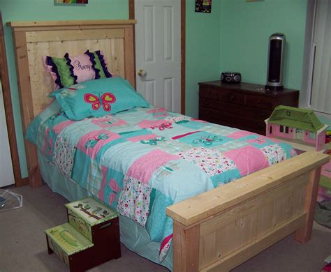 ana white bed ana white twin farmhouse bed diy projects