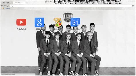 google chrome themes kpop exo exo xoxo kiss hug chrome theme themebeta