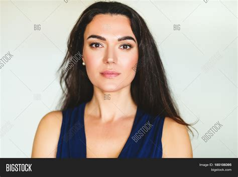 jet black hair for 40 year old woman with red highlights close portrait 35 40 year old woman image photo bigstock