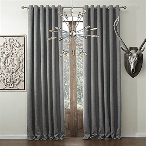 blackout linen curtains iyuegou wide curtains 120inch 300inch for large windows