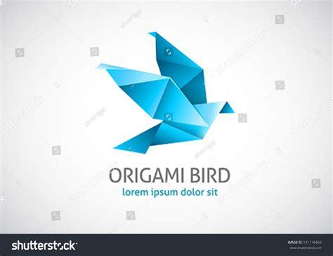 Origami Bird Logo - origami bird logo stock vector 141118465