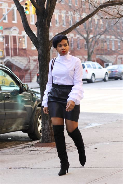 skirt and thigh high boots fanci fantastic