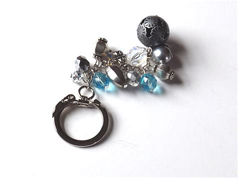 Handmade Keychains - handmade beaded keychain key chain bag charm by feltandgem