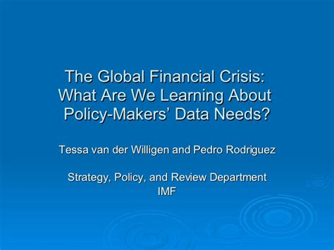 Global Financial Crisis Essay Topics by The Global Financial Crisis What Are We Learning
