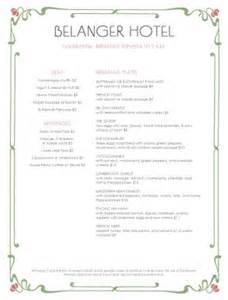room service breakfast menu hotel menu