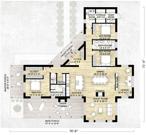 Adobe Style House Plans by Contemporary Style House Plan 3 Beds 2 5 Baths 2180 Sq