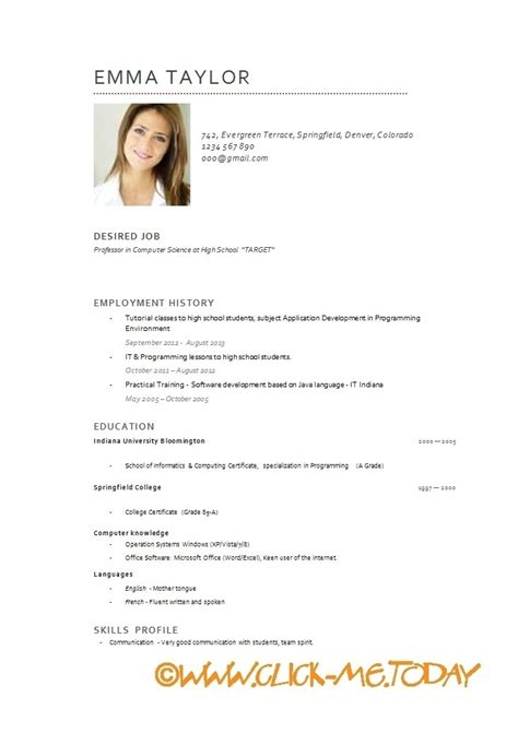 format cv in english english resume template learnhowtoloseweight net