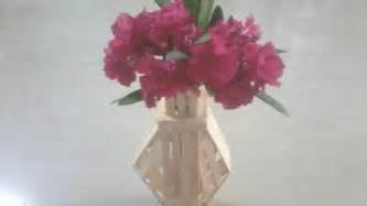 Make Flower Vase by Diy How To Make Flower Vase Using Popsicle Sticks