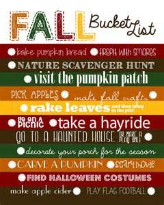 fall bucket list free template nest