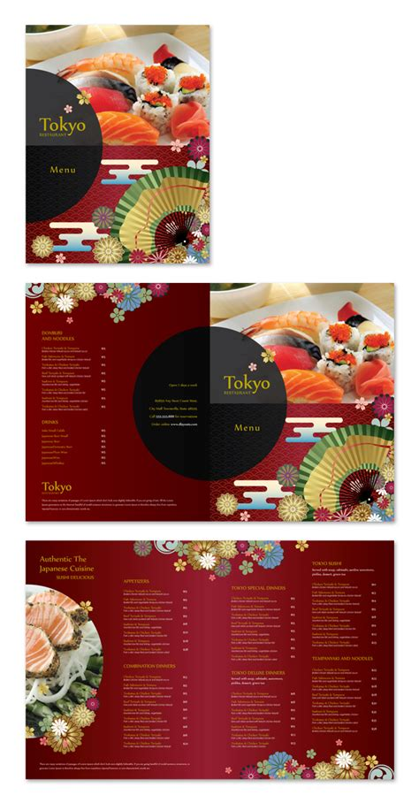 asian restaurant menu template japanese sushi restaurant menu template