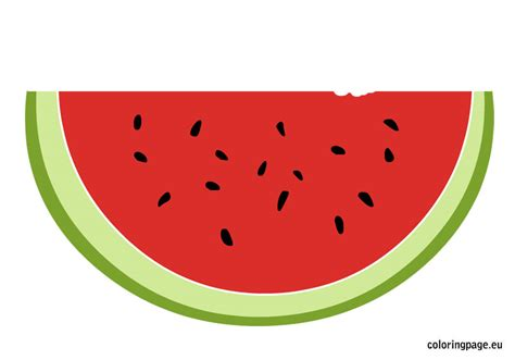 watermelon template fruit coloring page