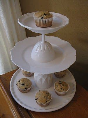 Diy Cupcake Stand Ideas Catering Stand From Plates And Glasses Such A Crafty Idea A In The Stuff August