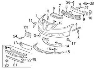 Parts For Pontiac G6 Bumper Components Front For 2009 Pontiac G6 Gxp