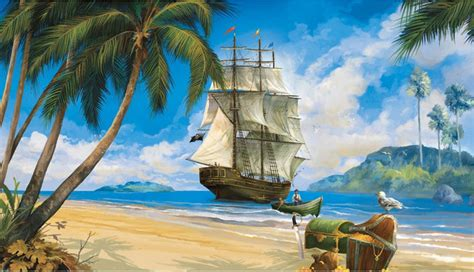pirate wall murals ship treasure wallpaper accent mural contemporary wallpaper by obedding