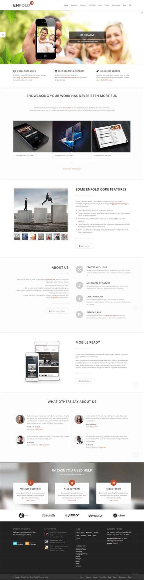 enfold theme responsive menu new responsive wordpress themes with html5 ui wordpress
