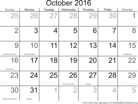 free printable planner 2016 october october 2016 free printable calendar printable blank