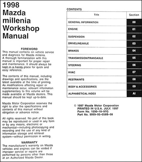 free online auto service manuals 1997 mazda millenia electronic throttle control free repair manual 1998 mazda millenia 1998 mazda millenia service repair shop workshop manual