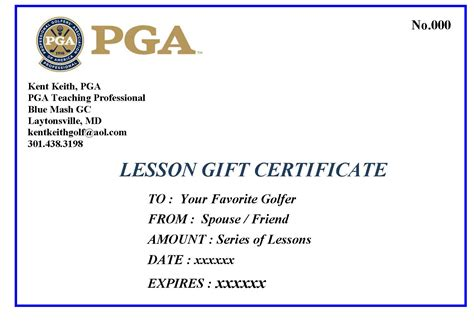 golf gift certificate template gift certificate word template sle inventory template