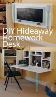 Small Hideaway Desk Diy Homework Hideaway Wall Desk The Organized