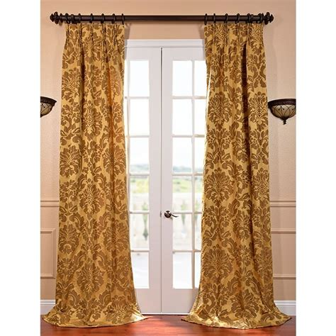 french pleated curtains astoria gold and bronze faux silk jacquard french pleated