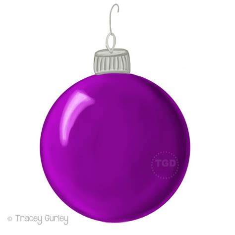 purple ornaments purple ornament clip painted clip