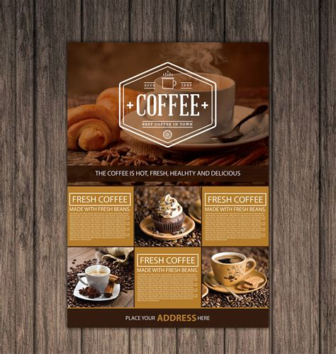 coffee shop graphic design free coffee shop a4 flyer graphic google tasty graphic