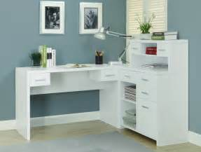 Best Desk L For Home Office Top White Corner Computer Desk On White Modern L Shaped Home Office Desk With Small Hutch White