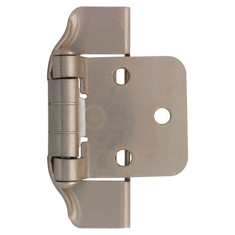 liberty 1 2 in satin nickel semi wrap overlay hinge 1