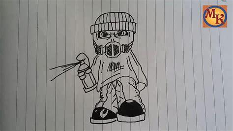 menggambar grafiti  bermasker youtube