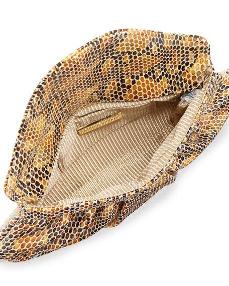 Merkins Serpent Embossed Clutch by Merkin Lotte Serpent Embossed Envelope Clutch Bag