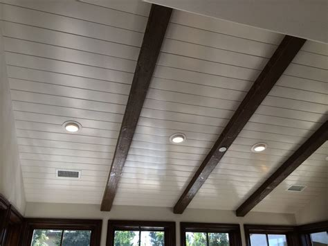 ceiling beams tongue  groove ceiling sloped ceiling