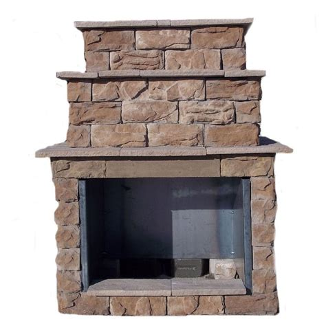 Outdoor Fireplace Diy Kits by 72 In Fossill Brown Grand Outdoor Fireplace Kit Fbgfpl