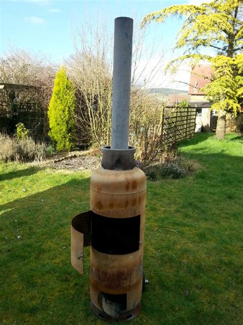 gas bottle chiminea plans s fantastic recycled empty gas bottle chiminea will