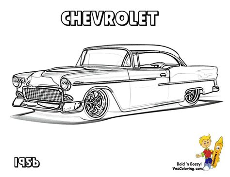 classic chevy car coloring pages chevy s 55 57