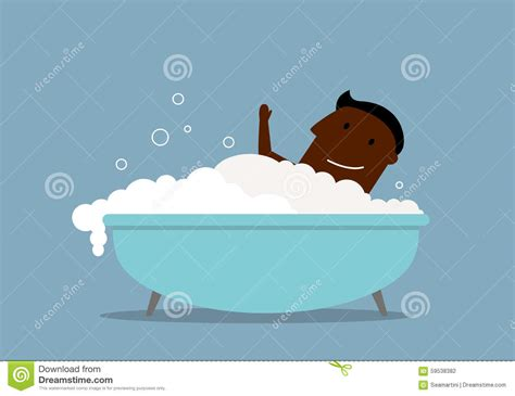 how to make foam in bathtub businessman in a bath with foam stock vector image 59538382