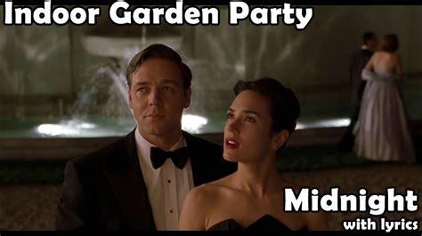 midnight  lyrics indoor garden party youtube